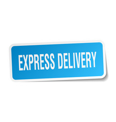 Express delivery square sticker on white vector