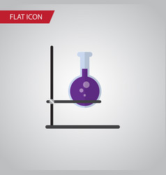 Isolated test tube flat icon flask element vector