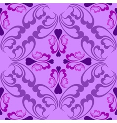 Lilac seamless pattern vector