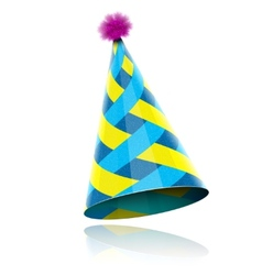 Glossy cone-like hat for event celebration vector