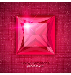 Gemstone princess shaped on textured background vector