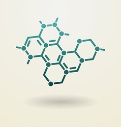 Simple molecule icon vector image