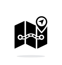 Map icon on white background with pin pointer vector