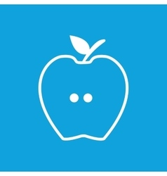 Apple half icon simple vector
