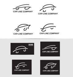Car shape logo icon vector image
