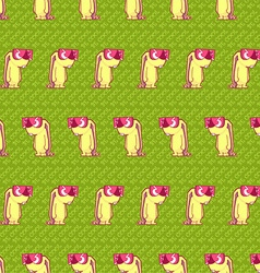 Cool rabbit pattern vector
