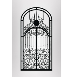 Forged door vector
