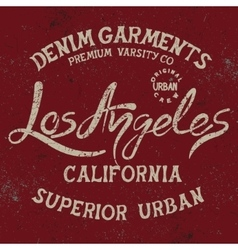 Vintage trademark with los angeles city text vector
