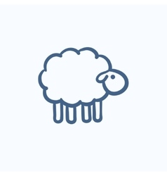 Sheep sketch icon vector
