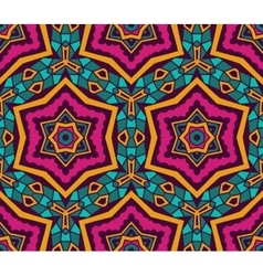 Abstract tribal ethnic star mosaic pattern vector