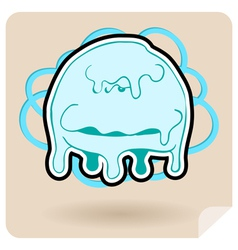 Angry jellyfish vector