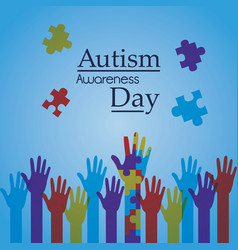Autism awareness day poster creative campaign vector