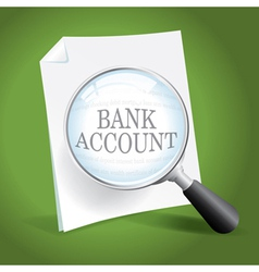 Bank account vector