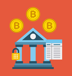 banking bitcoin concept security password code vector image vector image