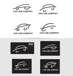 Car shape logo icon vector