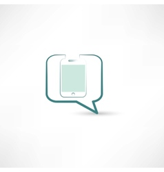 cellphone in bubble speech vector image vector image