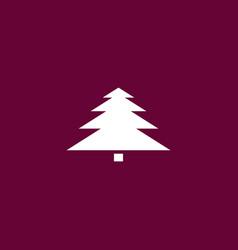 Christmas tree icon simple vector