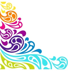 Color splash waves abstract background vector