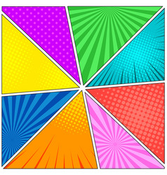 comic book eight colorful backgrounds vector image