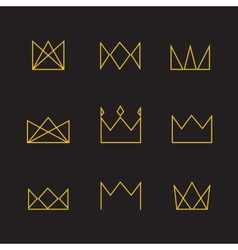 Crown icons vector image