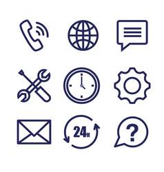 Customer service set icons vector