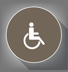 disabled sign white icon on vector image vector image