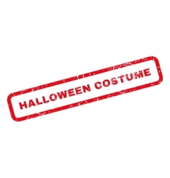 Halloween costume text rubber stamp vector