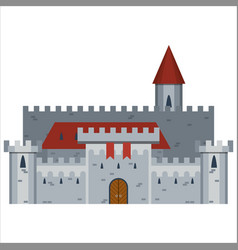 Hand drawn medieval castle vector
