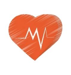 Heart montoring pulse health sport vector