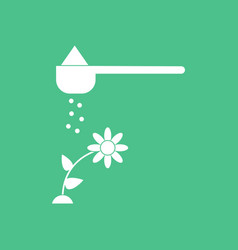 Icon fertilizer and flower vector