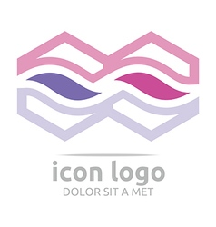 Icon trapeziodal shape design symbol abstract vector