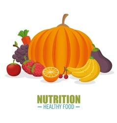 Nutrition healthy food vegetables and frflatts vector