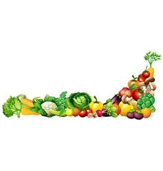 Paper design with fresh vegetables and fruits vector image