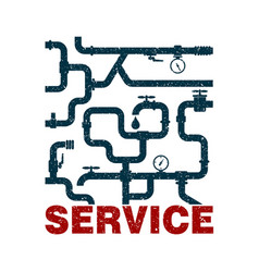plumbing design services vector image