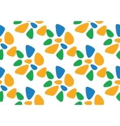 Seamless Pattern Flat Blue vector image