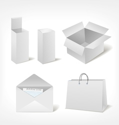 Set of different storage vector image