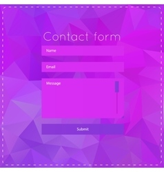 Simple violet contact us form templates vector image