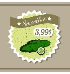 Smoothie Sticker 4 vector image
