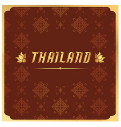 Thailand thai design red background image vector