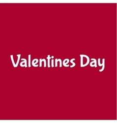 Valentines Day with red love vector image vector image