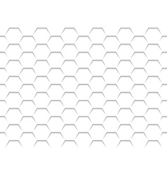 White Honeycomb Grid Texture vector image vector image
