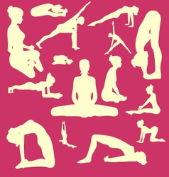 Yoga Pose Woman Digital Clipart vector image vector image