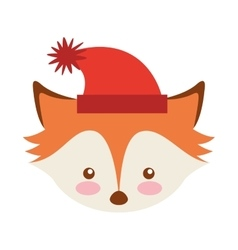 Fox winter clothes character vector