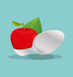 Apple vegan food nutrition natural vector