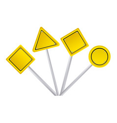 Emblems warning notice in blank vector