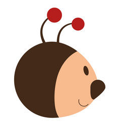 Ladybug head isolated icon vector