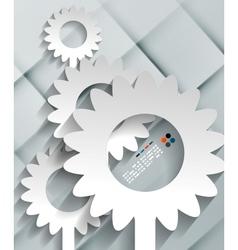 paper flowers modern design vector image
