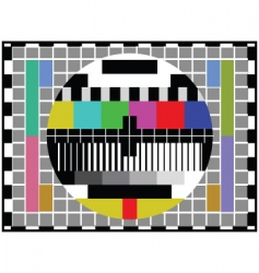 tv distortion vector image