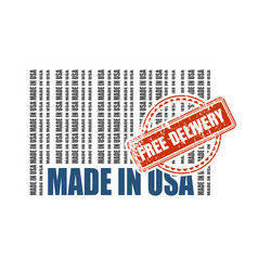 Free delivery from usa vector