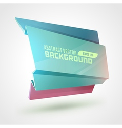 Abstract geometric 3d shape colorful banner vector